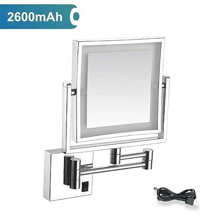 Specchio Da Bagno Con Luci Led.Mrj Specchio Ingranditore Da Parete Illuminato Ingradimento 3x