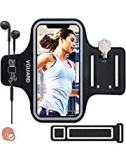 iVoler Running Phone Armband, 6.5 Inch Universal Running Armband with Key Card Holder Compatible with iPhone, Samsung Galaxy, Asus, Nokia,LG Less Than 6.5 Inches - Black