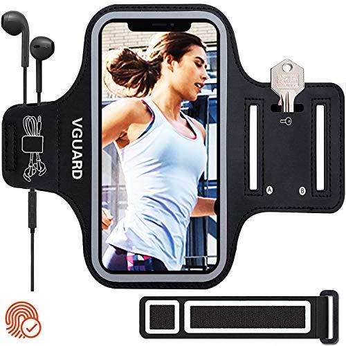 VGUARD Sportarmband voor mobiele telefoon, joggen, hardlopen, hardloop armband voor iPhone, Samsung Galaxy, Huawei met…