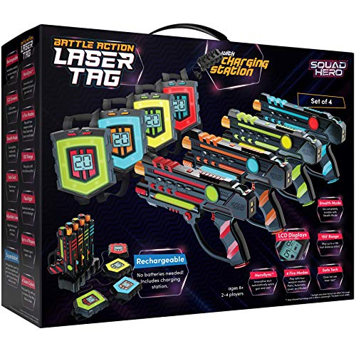 Squad Hero Rechargeable Laser Tag Set + Innovative LCDs and