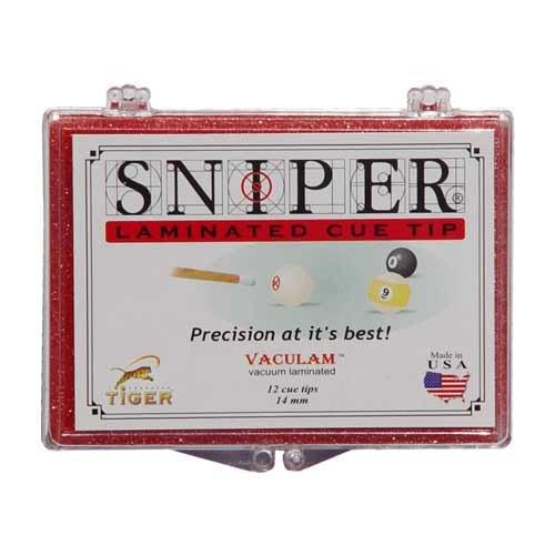 Tiger Sniper Tips, 14mm (Box of 12) Sniper Cue Tips