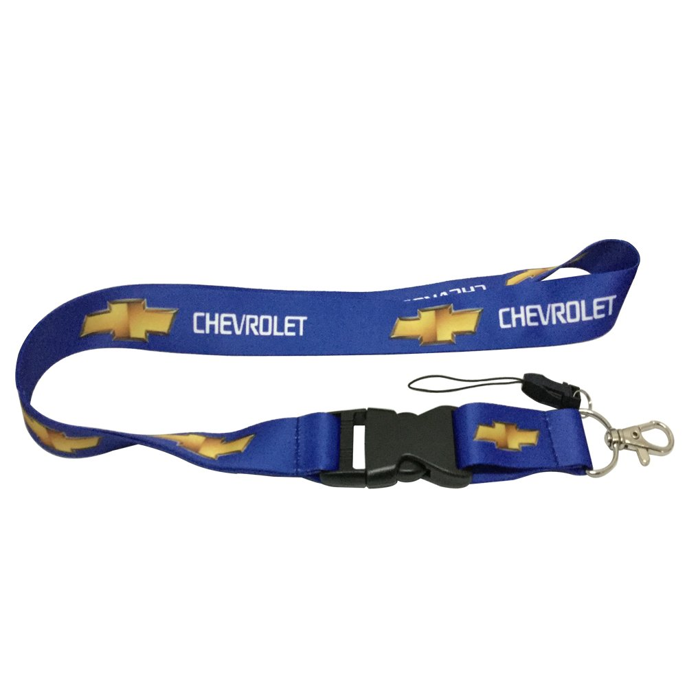 1pcs Blue Color USA Ship New Quick Release Neck Strap Lanyard Keychain Keyring Car Keys House Keys ID Badges Card For Chevrolet Design Coloryard 5559031890