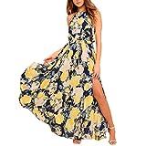 Sumen Women Halter Floral Boho Long Maxi Evening Party Beach Dress Sundress