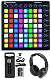 Novation LAUNCHPAD S MK2 MKII MIDI USB RGB Controller Pad+Mic+Headphones
