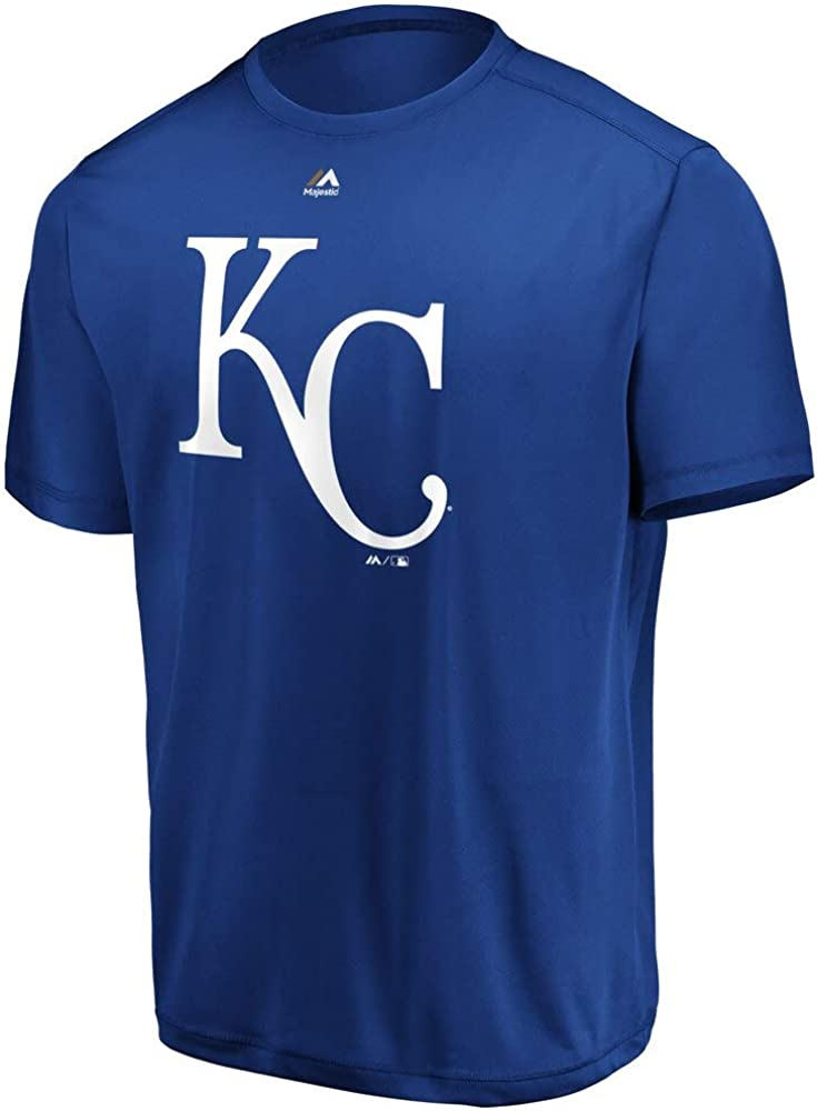 Kansas City Royals Men's Official Logo Blue T-Shirt