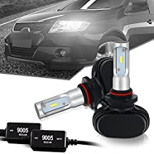 9005 LED Headlight bulb CANBUS Error Free 8000LM 6000K-6500K Cool White All In One Conversion Kit CSP Chips Driving Fog Light Bulbs Replacement for HID or Halogen - 1 Year Warranty