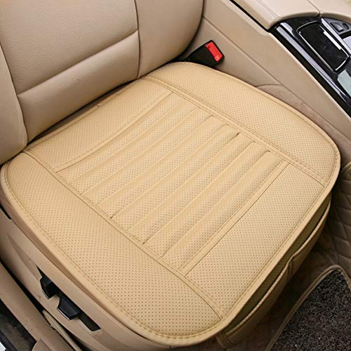 Big Ant Car Seat Cushion, 1PC Breathable Car Interior Seat Cover Cushion Pad Mat for Auto Supplies Office Chair with PU Leather(Beige) (Cushion Beige)