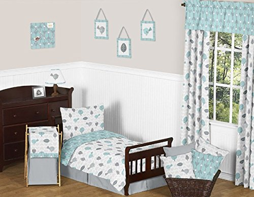 Sweet Jojo Designs 5-Piece Turquoise Blue and Gray Earth and