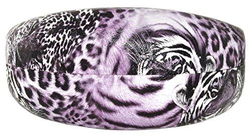 Fashion Clamshell Hard Case for Sunglasses Leopard Purple Animal Print extra large (Purse Purple Leopard Print)