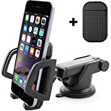 CIVPOWER Universal Dashboard Phone Holder for Car - Best Windshield Cell Phone Car Mount - Ideal for iPhone 7, 7 Plus, 6s Plus, 6s, 5s, 5c, Samsung S7, S7 Edge, S6, S6 Edge, S5 and Other Smartphones