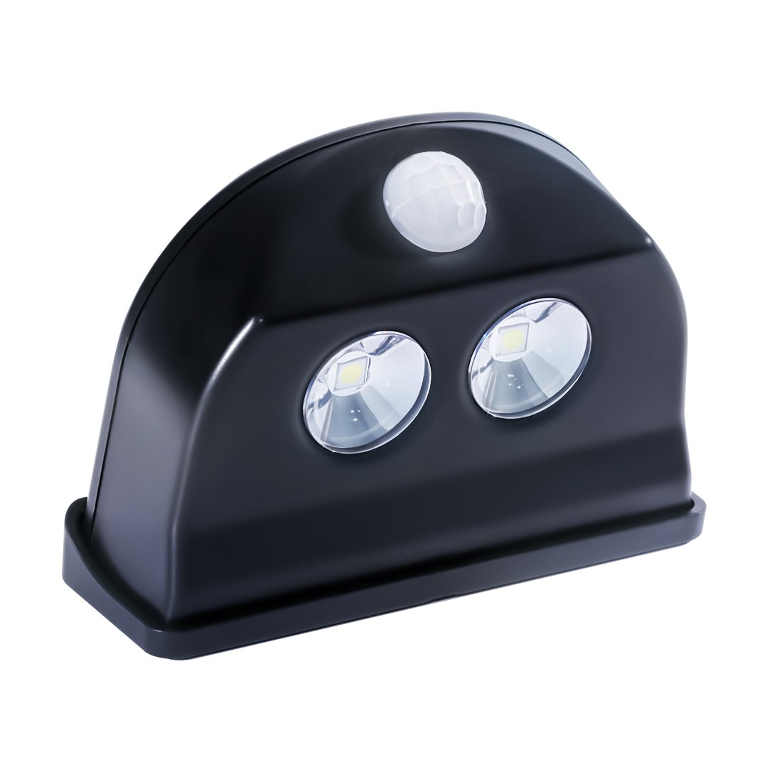 Motion Sensor Light Outdoor Battery Powered - Waterproof - Lasting Power - LED Step Light, Stair Light, Night Light - KMSdeco Cordless Door Alarm Light - Black Color