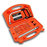 Magic Hand Saw Set,14-in-1 Multi Purpose Portable Bow Handsaw Kit for Wood Working, Kitchen, Glass, Tile, Metal, Plastic, Hunting, Camping, Pruning DIY in Tool Case