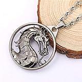 Mct12 - MS Jewelry Mortal Kombat Necklace Gragon Pendant Necklace Friendship Men Women Game Choker Accessories