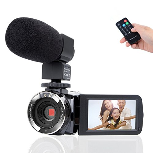 Camcorder Camera,Kimire HD 1080P Camera With Microphone Remote Control Infrared Night Vision...