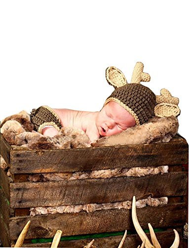 Cx 7 Review - CX-Queen Baby Photography Prop Handmade Boy Deer Beanie caps Diaper
