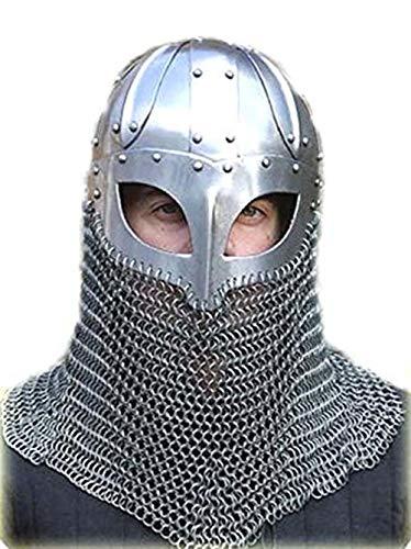 Casco de Vikingo Battle Armor 18 G de acero y malla