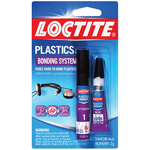 Loctite Super Glue Plastics Bonding System with Activator 2-Gram (681925) (Plastic Adhesive)