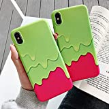BONTOUJOUR iPhone 7 Plus/iPhone 8 Plus Case, Stylish Summer Ice Cream Phone Case, Girl Creative Funny Food Colorful Icecream Soft TPU Cover Case Good Protection