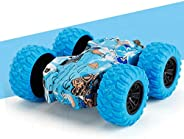 【Deal!!!】 Pull Back Cars Friction Powered Vehicles, Inertia-Double Side Stunt Graffiti Car Off Road Model Toy