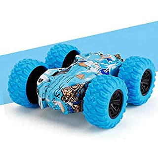 Stunt Car Toy Remote Control Car Double Sided High Speed Lights Off-Road Racing Vehicle Xmas Gift Toy Cars for Girls Boys (Blue)