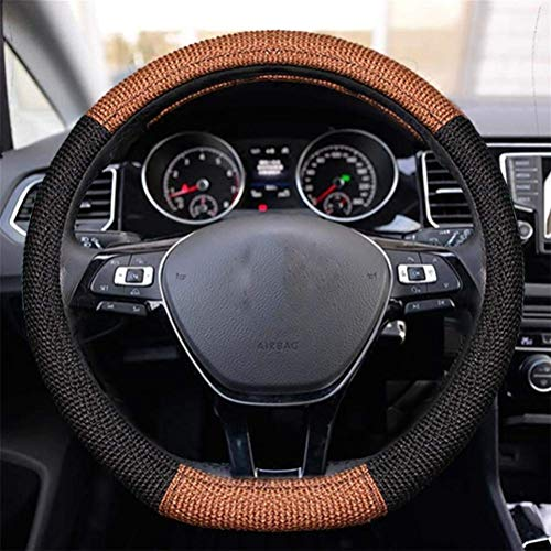 ZHANGYC Universal Automotive Multi-Color Steering Wheel of The Coverage of Natural fibers auto wrap Cover on-Design