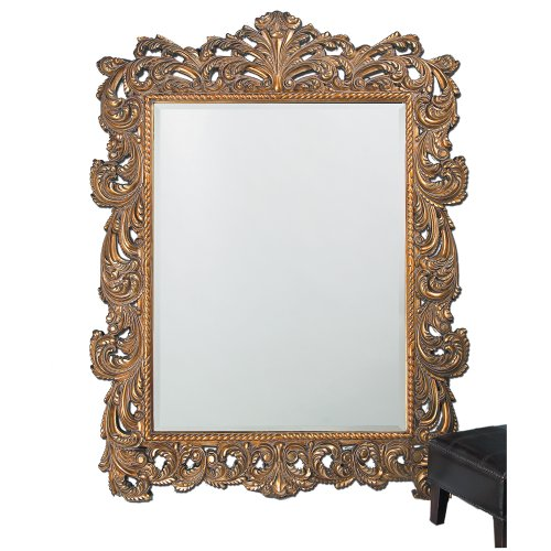 Howard Elliott 2037XL Napoleon Mirror, Antique Gold