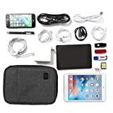 BAGSMART Double-layer Travel Cable Organizer Electronics Accessories Cases for cables, iphone, kindle charge, camera charger, macbook charger, Black