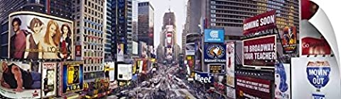 Canvas On Demand Wall Peel Wall Art Print entitled Dusk Times Square New York NY (72 Hours New York Times)