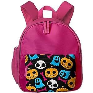 "Pumpkin Lantern Trick Or Treat Kid Child Bright School Bag Bookbag Lightweight Summer Camp Shoulders Bag Backpacks 12.5"" Height"