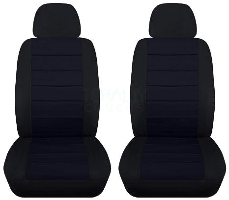 Amazon.com: Fundas para asientos de coche en 2 tonos con 2 ...