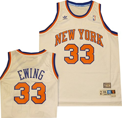 NBA Men's New York Knicks Patrick Ewing Hardwood Classics White Swingman Jersey