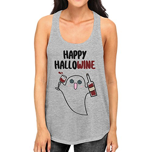 Happy Sans Taille Unique Pull Manche Ghost Wine 365 Hallowine Printing Femme xYEnE0a