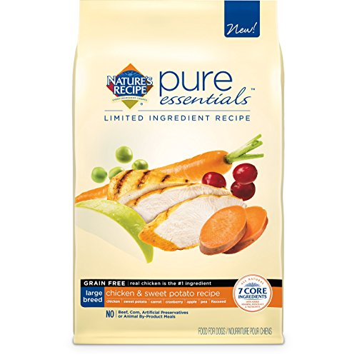 Nature's Recipe Pure Essentials Grain Free Large Breed Chicken and Sweet Potato Dry Dog Food, 11-Pound