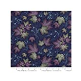 quilt fabric clearance - Clearance Sale~Summer on the Pond~Northwoods Summer Leaves Dark Blue by Holly Taylor - Cotton Moda Fabric