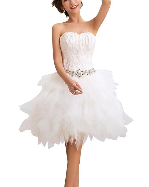 Vestidos De Novia Para La Novia Vintage Nupcial Del Vestido Elegante Sin Tirantes Vestidos Beige XL