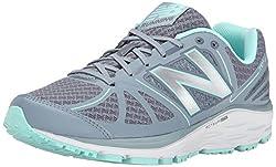 New Balance Women's W770V5 Running Shoe, White/Blue, 7.5 B US