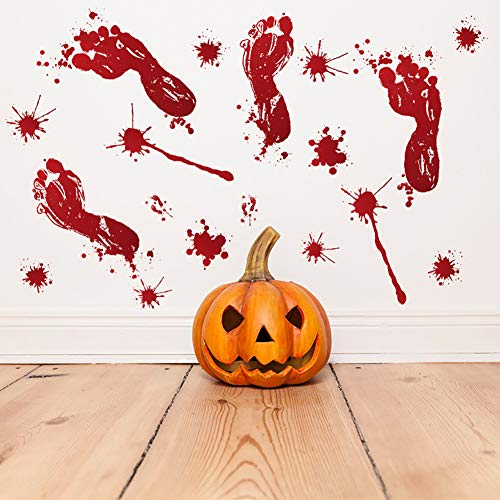 SUZM Halloween Decorations Clings/Bloody Handprint Stickers Window Decals