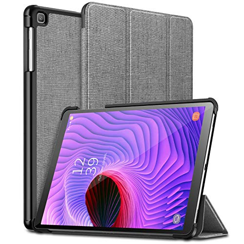 Infiland Samsung Galaxy Tab A 10.1 2019 Case, Ultra Slim Tri-Fold Shell Cover Compatible with Samsung Galaxy Tab A 10.1 Inch Model SM-T510/SM-T515 2019 Release Tablet, Gray