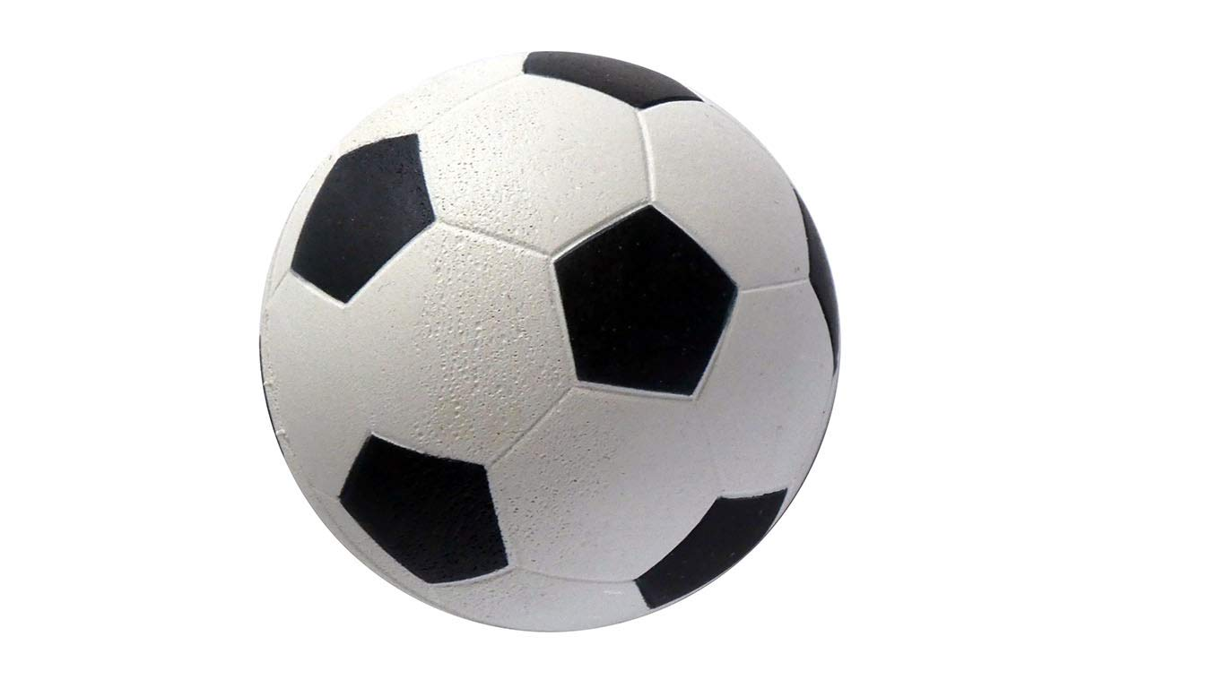 STOP! Fitness Miniball im Fußball Design aus Gummi für zu Hause, im Büro oder auf Dem Schulhof schäfer sport & fitness