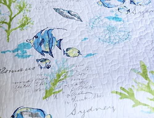 NEW Sigrid Olsen Martinique Quilt; Full//Queen; Bright Tropical Beachy LAST ONE