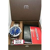 Relógio Masculino Mondaine Prata com Carteira Preta 53792G0MGNE2K1