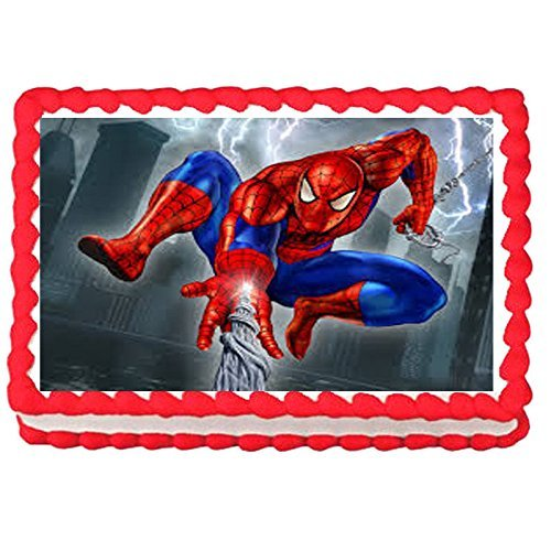 1/4 Sheet Spiderman Edible image Cake topper decoration personalized -75