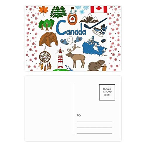Canada Landscap Animals National Flag Christmas Flower Postcard Thanks Card Mailing ()