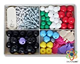 Molecular Model Kit with Molecule Building Software, Organic Chemistry Set by Dalton Labs - Advanced Teaching Edition Educational Set - 178 pcs Color Coded Atoms, Bonds, Orbitals, Links - Science Toys