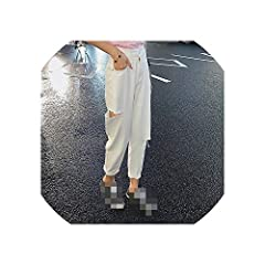 Closure Type:Button Fly Style:Fashion Casual Office Lady Brand Name:Vghi Gender:Women Fabric Type:Plaid Material:Cotton Jeans Style:Harem Pants Item Type:Jeans Decoration:Pockets Hole Fake Zippers Ripped Washed Wash:Dark Enzyme Wash Destroy W...
