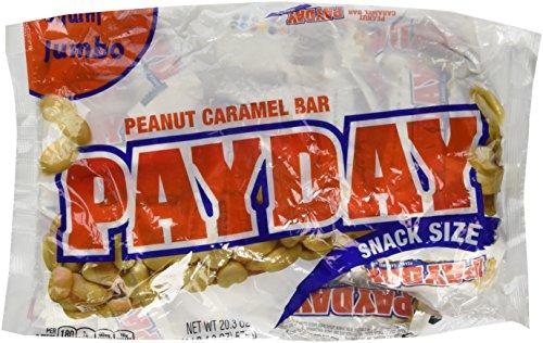 Payday Peanut Caramel Bar  Snack Size  Jumbo Bag  20 3 Ounce