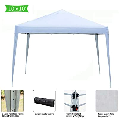 MB-THISTAR 10'x10' EZ Pop Up Canopy Outdoor Patio Wedding Party Tent Gazebo w/Carry Bag: Sports & Outdoors
