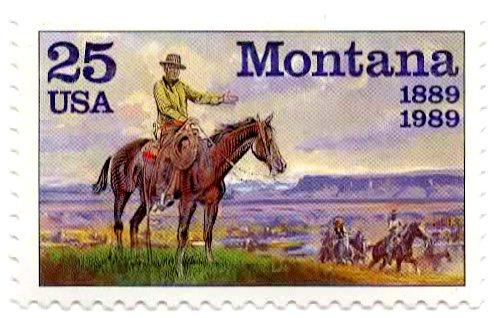USA Postage Stamp Single 1989 Montana Issue 25 Cent Scott #2401