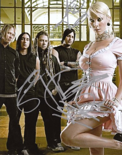 In This Moment full band signed autographed reprint photo #2 RP Maria Brink -