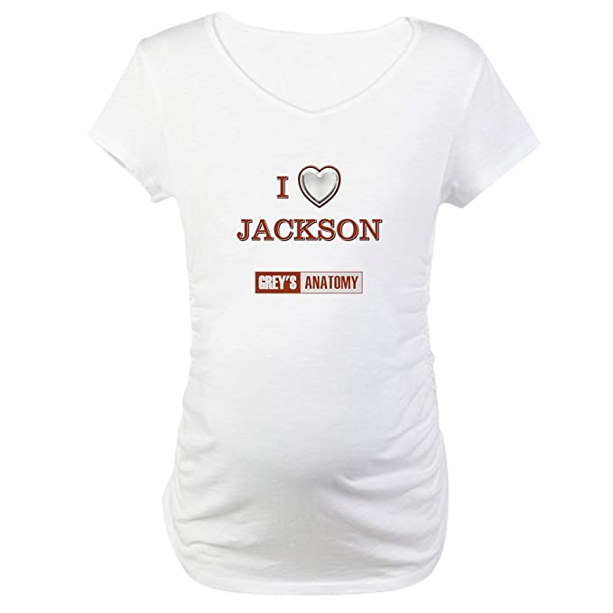 ab592b1bd26f5 Image Unavailable. Image not available for. Color: CafePress I Love Jackson  Cotton Maternity T-Shirt, Cute & Funny Pregnancy Tee White